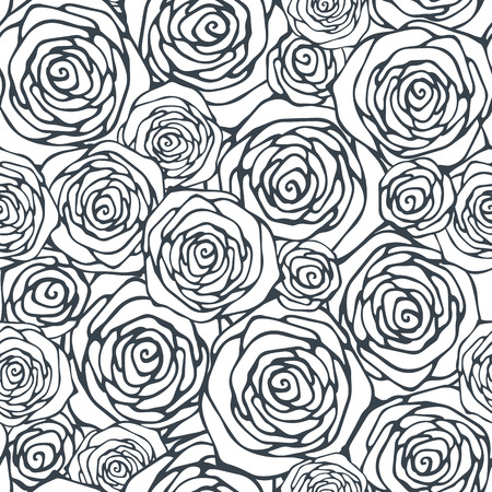 Seamless pattern with decorative roses Vectores