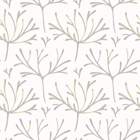 graphically: Seamless pattern with hand drawn branches Illustration