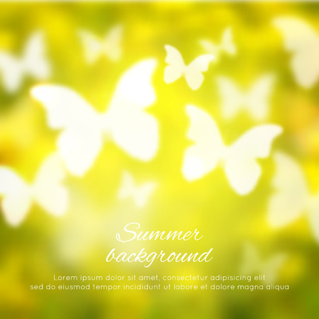spring background: Abstract shining spring summer background with butterflies