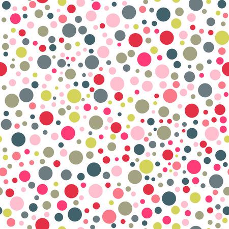 ヴィンテージの色の水玉シームレス パターン