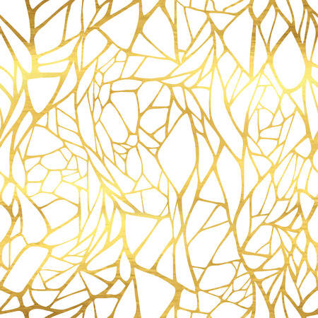 oro: Patrón sin fisuras con ornamento abstracto de oro Vectores