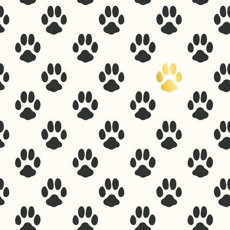 imprint: Seamless pattern with animal footprint texture.