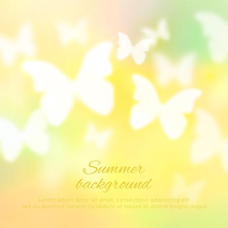 Abstracte glanzende achtergrond met vlinders