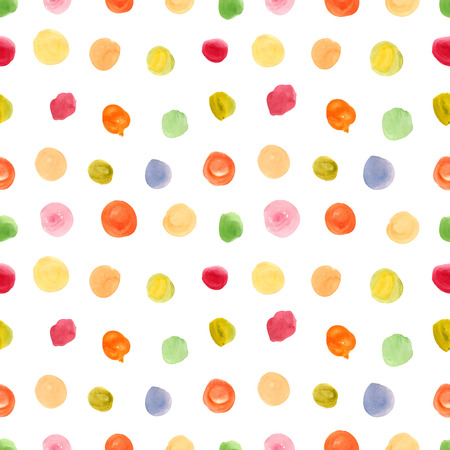 Seamless pattern with polka dot ornament