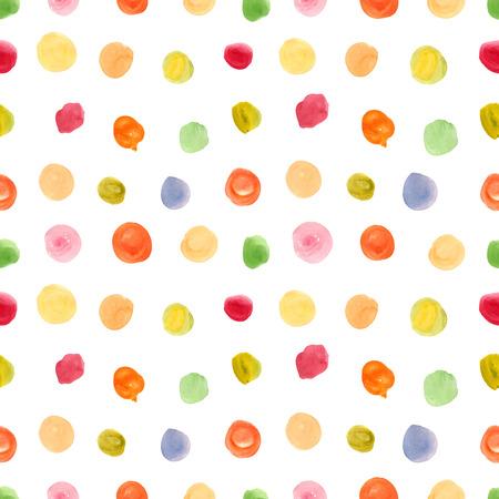 Seamless pattern con polka dot ornamento Archivio Fotografico - 43496460