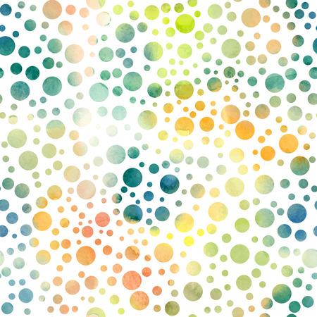 손으로 그린 폴카 도트 원활한 패턴 일러스트