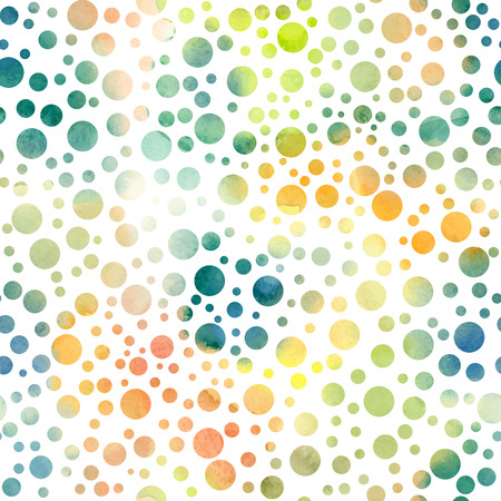 Seamless pattern with hand painted polka dots Illustration
