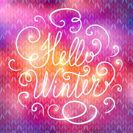 hollidays: Hello winter hand lettering