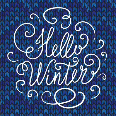 hand lettering: Hello winter hand lettering