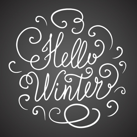 hollidays: Hello winter hand lettering