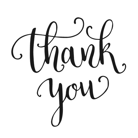 to thank: Thank you hand lettering