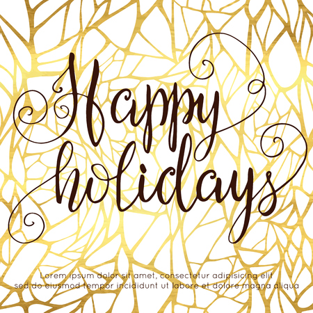 hollidays: Happy holidays hand lettering Illustration