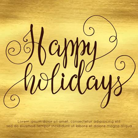 Happy holidays hand lettering Illustration