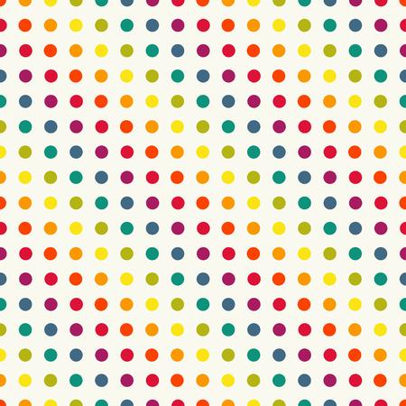Polka dot pattern dans les couleurs d'époque Vecteurs