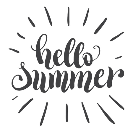 perseverance: Hello summer hand lettering typography poster
