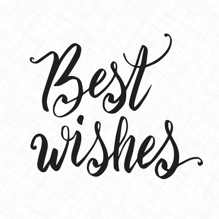 best wishes: Best wishes hand lettering