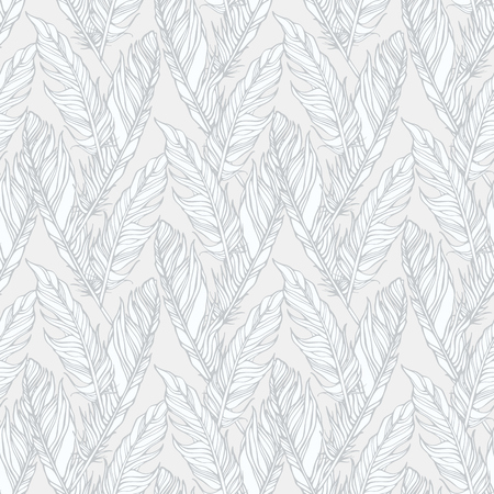 lightweight ornaments: Feather seamless pattern Illustration
