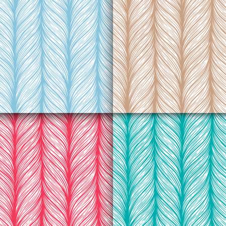 Hand drawn pattern with decorative weaving ornament. Stylized abstract neutral universal texture. Vector illustration Illustration