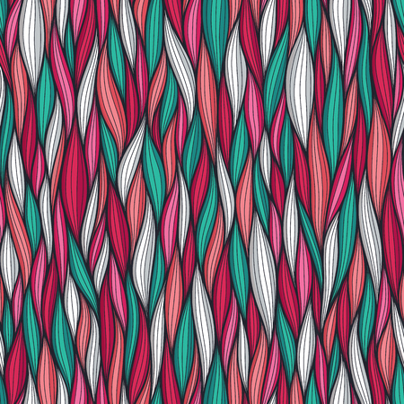 Abstract wavy lines seamless pattern. Floral organic vector illustration. Bright colorful seamlessly tiling background collection Standard-Bild - 102830185