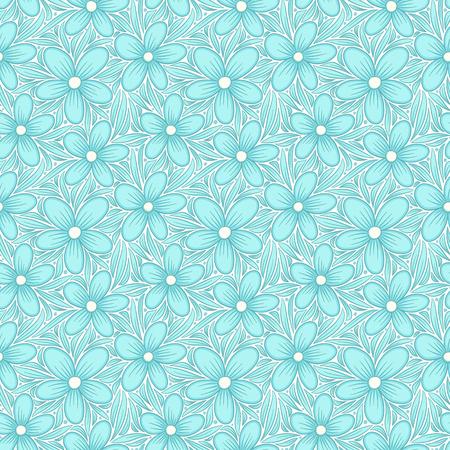 Decorative floral seamless pattern. Hand drawn colorful stylized doodle background. Botanical vector illustration Illustration