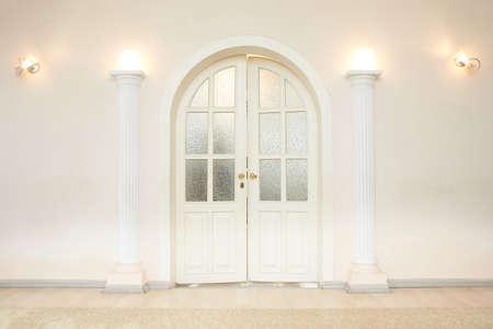 White doors to the ceremony hall