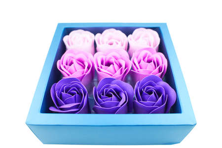 Set Rose Bath Soap Flower Petal With Gift Box For Wedding Party Girls Gift Romantic Mother's Day Wedding Valentine Gifts