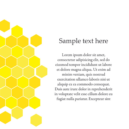 beeswax: Vector Illustration of Geometric Hexagons Background. Honeycomb Background. Stock Photo