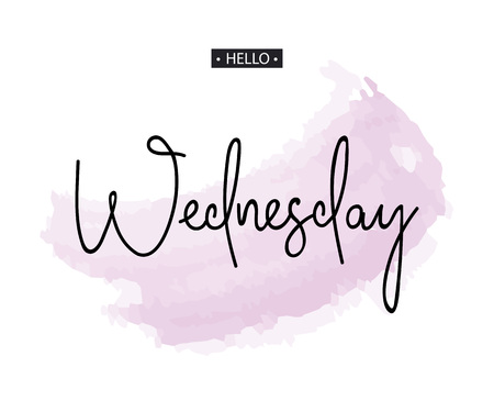 Hello Wednesday. Inspirational quote.Vector illustration