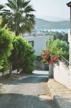 Narrow street from beautiful tourism city Bodrum. - Image