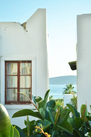 View of a traditional Bodrum house. -Image Фото со стока