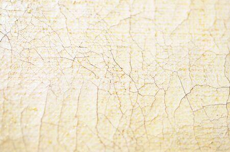Gros plan vieux fissuré huile sur toile texture. Mise au point douce. - Image Banque d'images