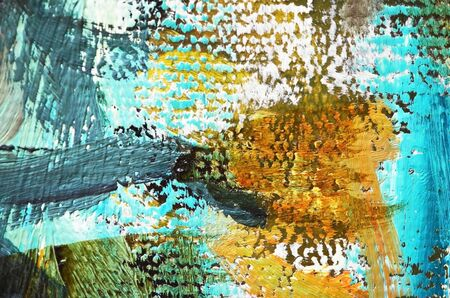 Artists oil paints multicolored closeup abstract background. Soft focus. - Image Stock Photo