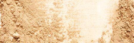 Beige face powder texture. Make-up concept. - Image Banco de Imagens