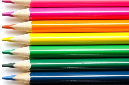 Color pencils background. Close up. - Image