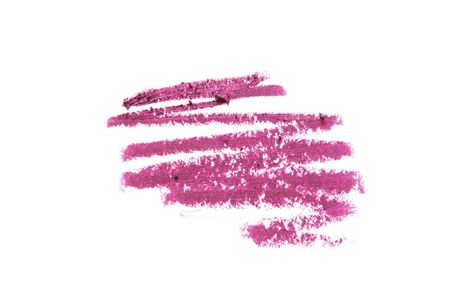 Ð¡osmetic lipstick pencil swatch stroke isolated on white. - Image
