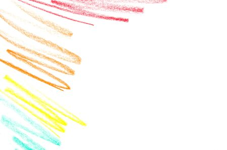 Abstract color pencil scribbles background. - Image Stock Photo