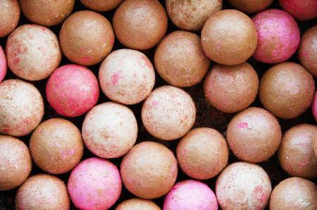 Close-up of powder balls background. - Image