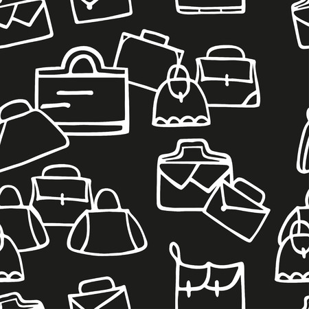 leather goods: Hand-drawn colorful woman bags seamless pattern. Can be used  for wallpaper, web page background, wrapping paper, print on fabric