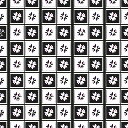 Geometric abstract seamless pattern with style square black and white. Can be used  for wallpaper, web page background, wrapping paper, print on fabric.