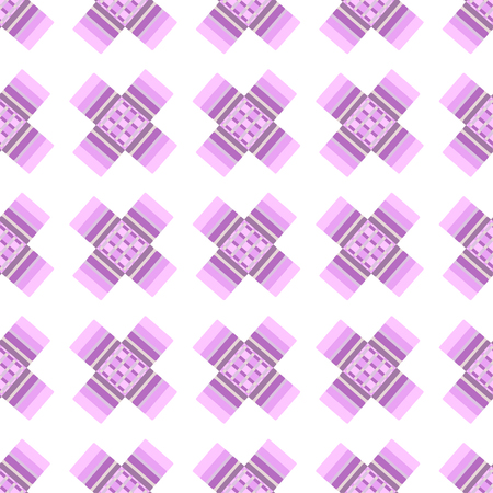 crosses: Abstract pink crosses vector seamless pattern on beige background.
