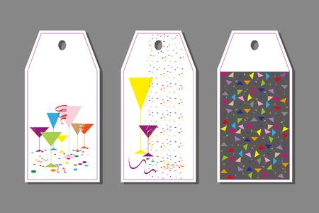 手描きの装飾の色のカード。グリーティング カード、招待状のベクトル図
