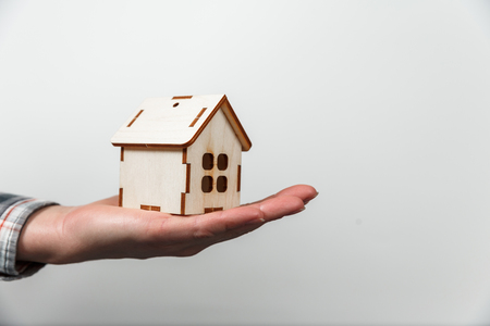 Real estate concept. Buying and selling homes. Mortgage and payment of taxes. Debt and loan. Purchase. Home sold. Real Estate Agent Services. Rent apartment. Sale of property.