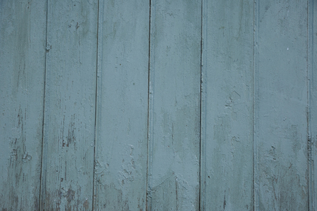 Blue barn wooden wall planking wide texture. Old wood slats rustic shabby background. Paint Peeled Azure Weathered Isolated Surface.
