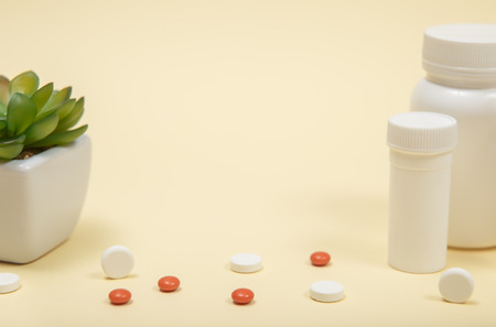 Background of blisters of pharmaceutical pills with copy spase