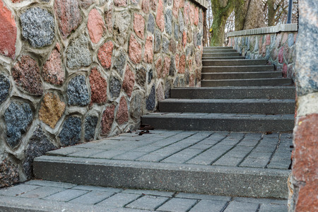 tortuous: tortuous ascent of stone steps between the stone walls