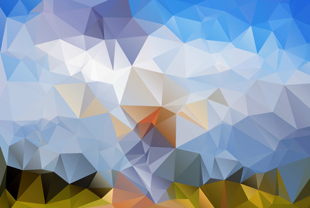 rumpled: low poly style illustration,abstract rumpled triangular background