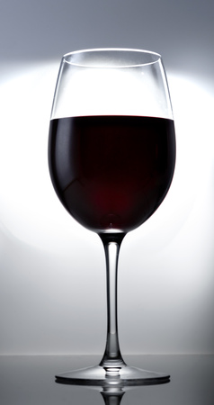 glass of red opaque wine