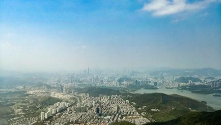 View from mountain Macau on Shenzhen