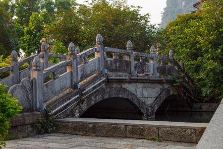 Vintage Stone Bridge in Yangshuo, China, Asia