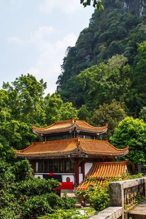 Chinese-Style Bamboo Roof Museum, Yangshuo, China, Asia